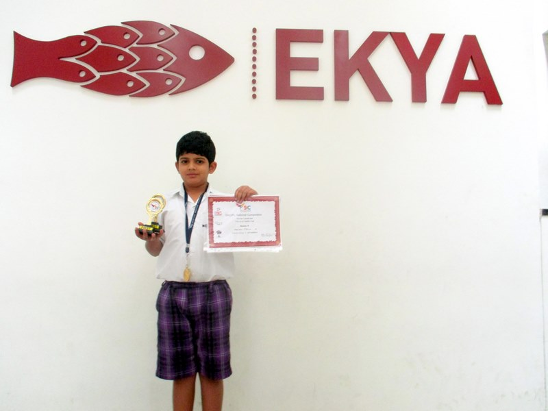 Student comes 1st in abacus competition